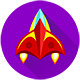 Space Way - HTML5 game. Construct2 (.capx) + mobile + top banner