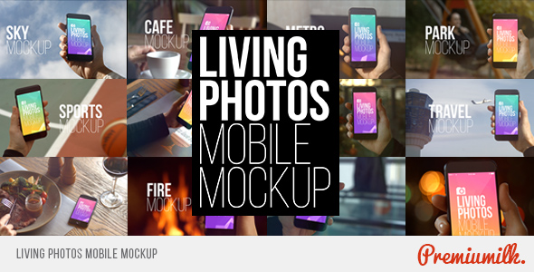 Download Living Photos Mobile Mockup nulled download