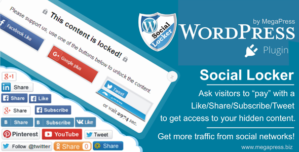 Download Social Locker for WordPress nulled download