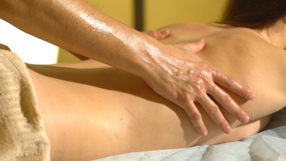 VideoHive Young Woman Getting a Back Massage 19153256
