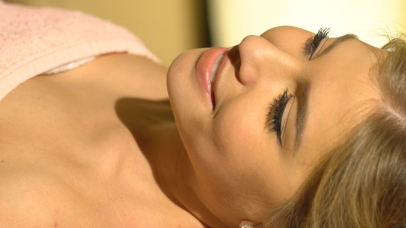 VideoHive Young Woman Getting a Back Massage 19153489