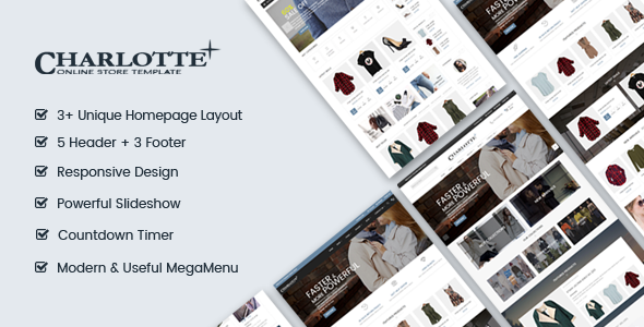 Charlotte | Creative - Modern - Flexible Responsive Shopify Theme
