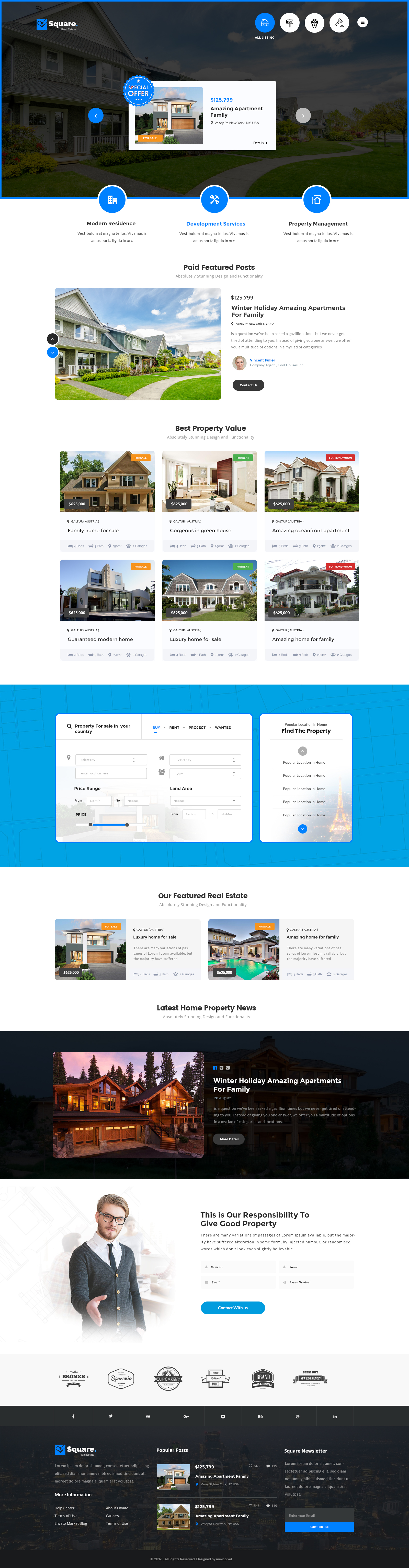 square professional real estate psd templates by mexopixel square professional real estate psd templates