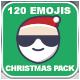 120 Animated Emojis - Christmas Pack