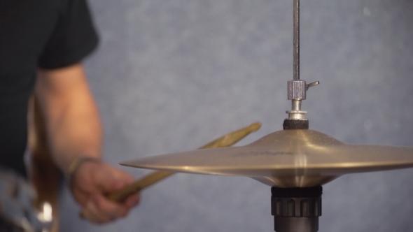 VideoHive Man Play on Drum Kit 19155393