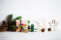 Various Christmas and New Year's gifts of handmade ornaments