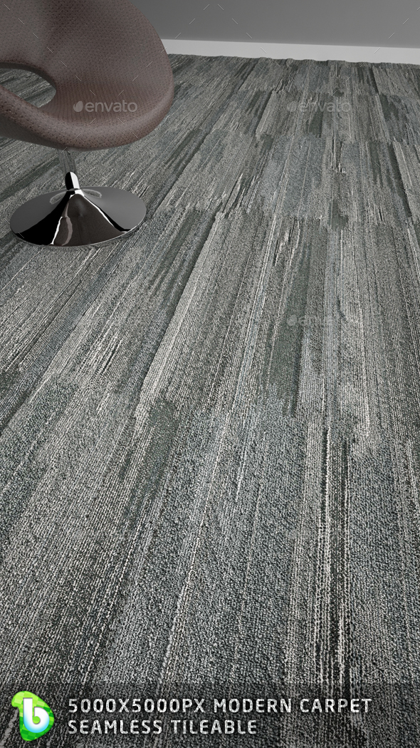 Modern Carpet  - Vertical Gray - 3DOcean Item for Sale