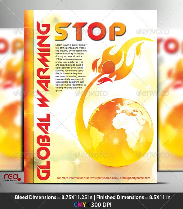 GraphicRiver Global Warming Postar Flyer Template 221717
