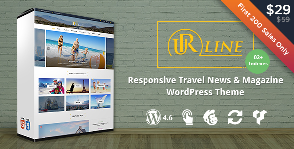Download Urline - Creative WordPress Travel News And Magazine Theme nulled download