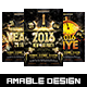3 in 1 New Year Eve Flyer/Poster Vol.2