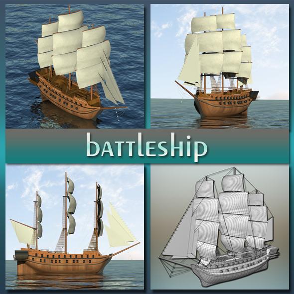 Battleship - 3DOcean Item for Sale