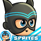 Super Hero 2D Game Character Sprites 287