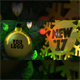 New Year 2017 Christmas card. Bulb. Logo