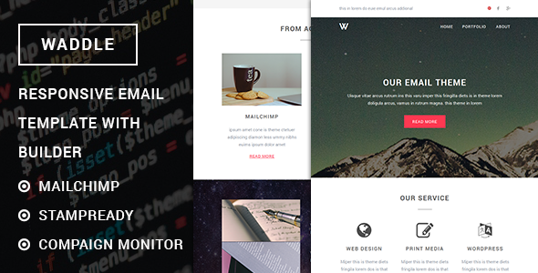 Waddle - Responsive Email Template with Stampready Builder
