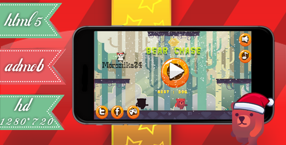 Download Bear Chase:Christmas - admob, html5. nulled download