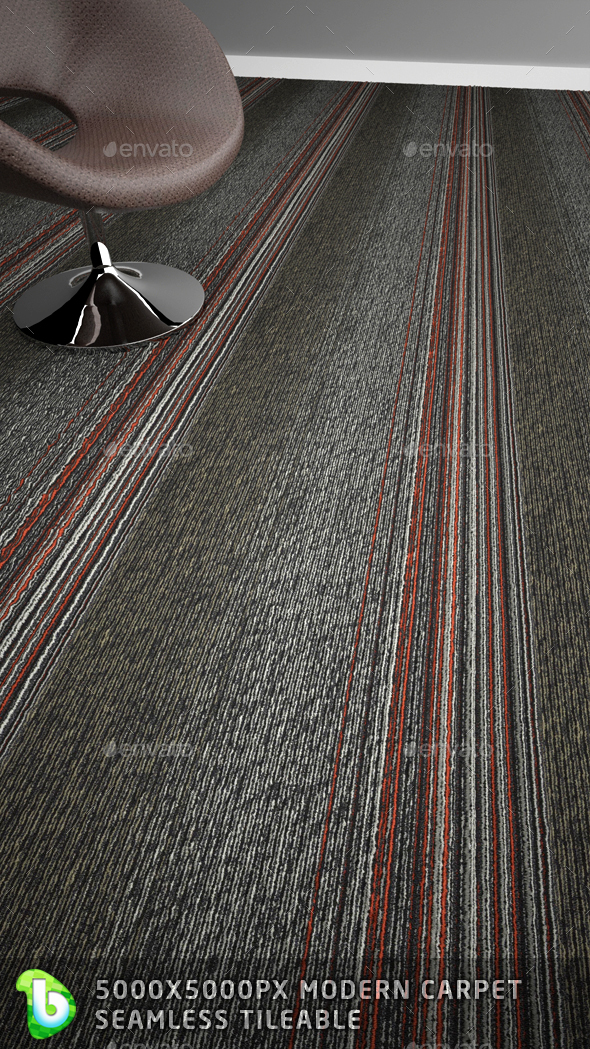 Modern Carpet - Vertical Stripes - 3DOcean Item for Sale