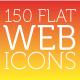 150 Flat Web Icons