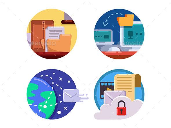 Documentation and Document Management Set Icons