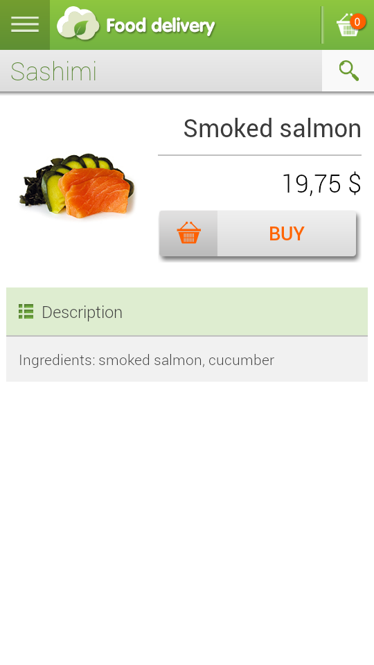 Food delivery app android on slim by suprom codecanyon - Application android cuisine ...