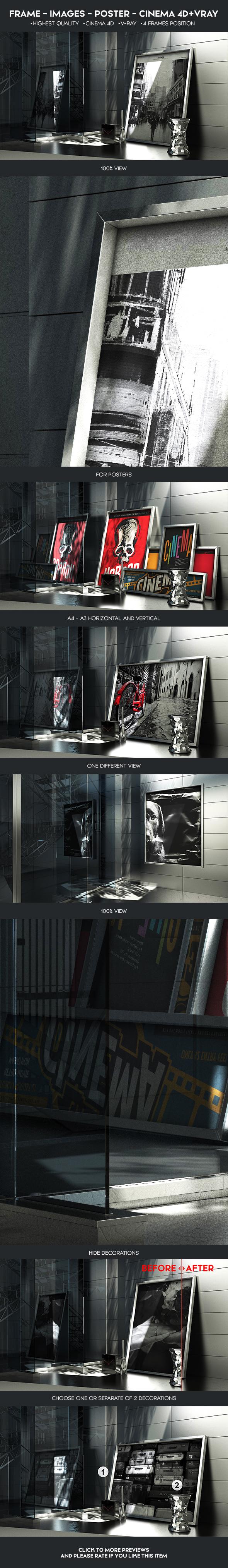 Frame Images Poster Mock-Up - 3DOcean Item for Sale