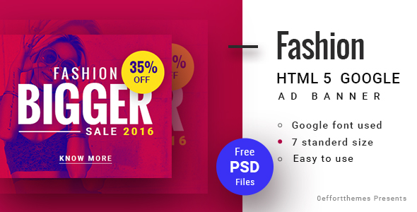 Download GWD  | Fashion discount HTML Banner 02 nulled download