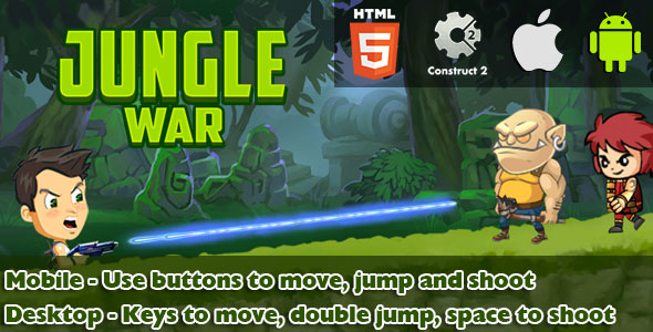 Download Jungle War - HTML5 Game (CAPX) nulled download