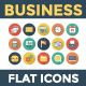 100 Business Flat Circle Shadow Icons