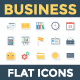 100 Business Flat Paper Icons