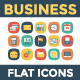 100 Business Flat Square Icons