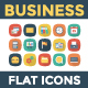 100 Business Flat Square with Shadow Icons
