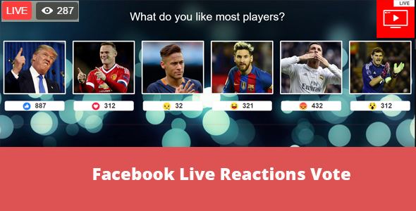 Facebook Live Reactions Vote - CodeCanyon Item for Sale