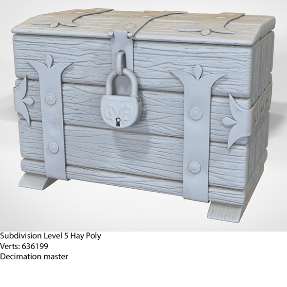 Old wooden Chest - 3DOcean Item for Sale