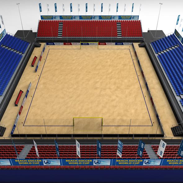 Beach soccer stadium high poly - 3DOcean Item for Sale