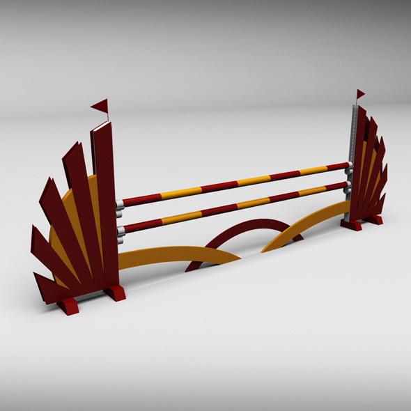 Horse jump obstacle 01 - 3DOcean Item for Sale
