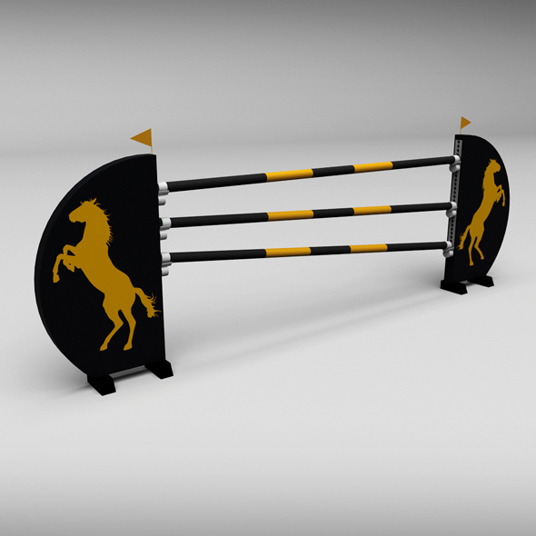 Horse jump obstacle 07 - 3DOcean Item for Sale