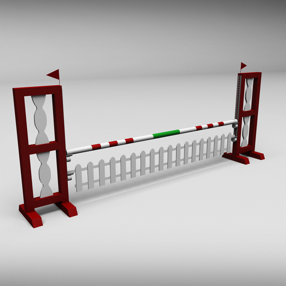 Horse jump obstacle 02 - 3DOcean Item for Sale