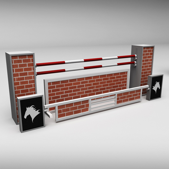 Horse jump obstacle 09 - 3DOcean Item for Sale
