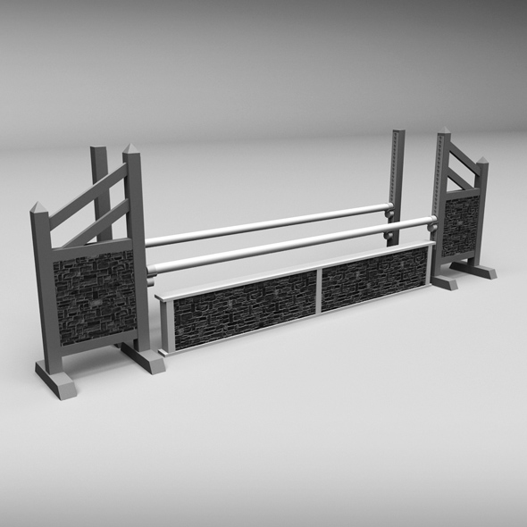 Horse jump obstacle 03 - 3DOcean Item for Sale
