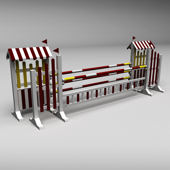 Horse jump obstacle 10 - 3DOcean Item for Sale