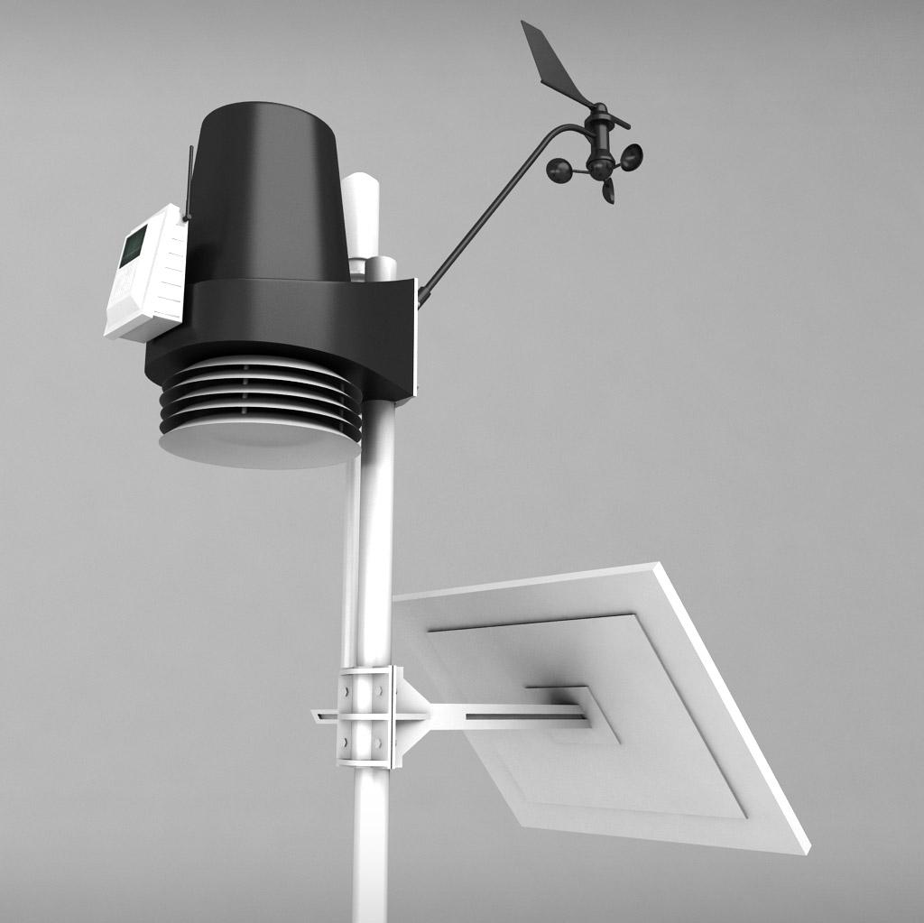 weather meteo station high detail by kr3atura 3docean. Black Bedroom Furniture Sets. Home Design Ideas