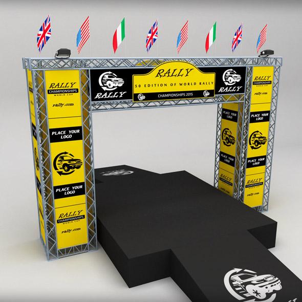 3DOcean WRC motor sport podium 19162472