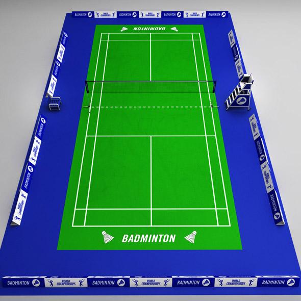 3DOcean Badminton court arena 19162549