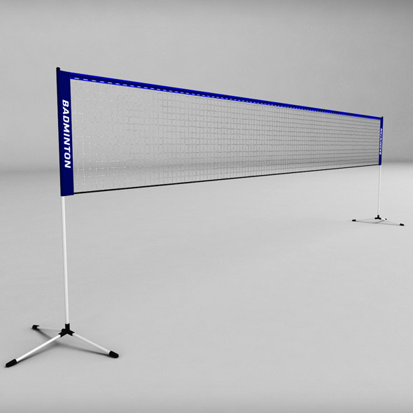 3DOcean Badminton net low poly 19162589