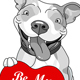 Valentine Pit Bull with Heart