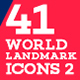 41 World Landmark Icons Bundle 2