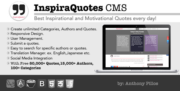 Download InspiraQuotes CMS - Inspirational Quotes Everyday nulled download