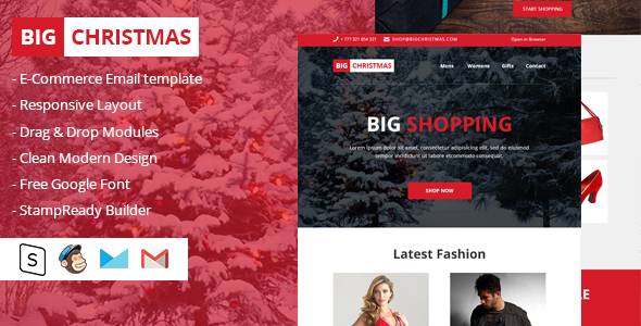 Large Christmas Multipurpose E-mail Newsletter (E-mail Templates)