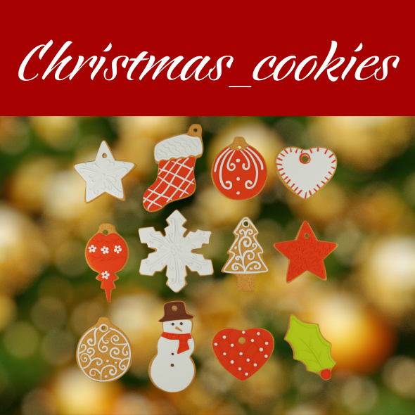 Christmas cookie - 3DOcean Item for Sale