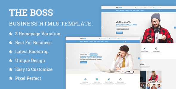 The Boss- Corporate &amp Organization HTML Template (Organization)