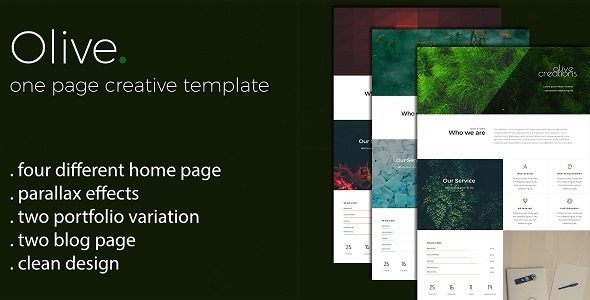 Olive - One Page Multi Purpose Template